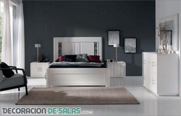 Dormitorios elegantes con madera blanca for Dormitorios modernos en blanco y plata