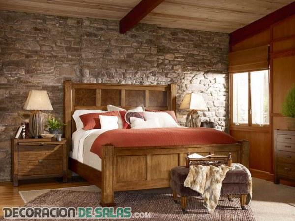 Dormitorios de matrimonio con estilo r stico - Camera da letto rustica moderna ...