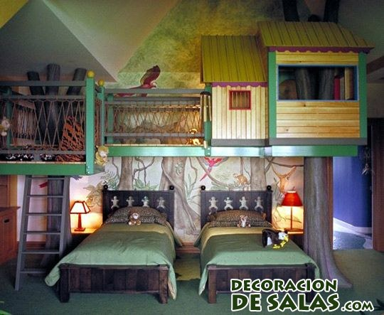 dormitorio original para niños