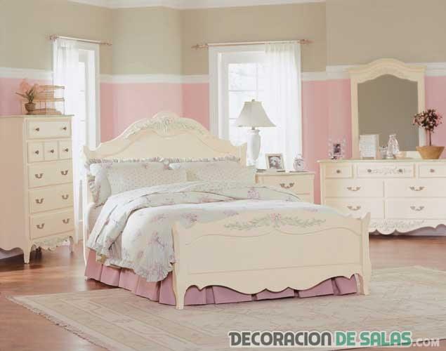 dormitorio para chica romántico
