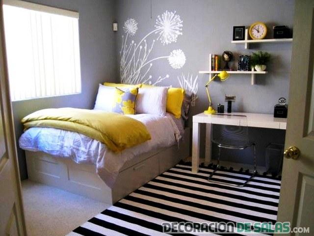 dormitorio pequeño en casa pequeña