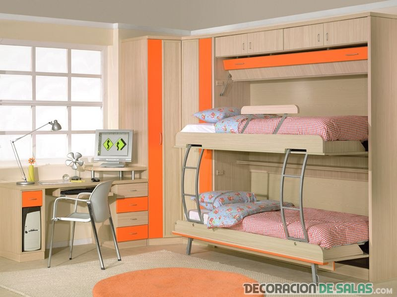 Dormitorios juveniles peque os pero muy modernos - Amueblar dormitorio pequeno ...