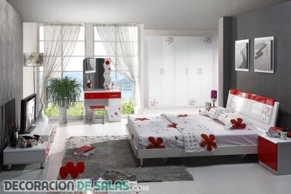 Dormitorios modernos con televisión