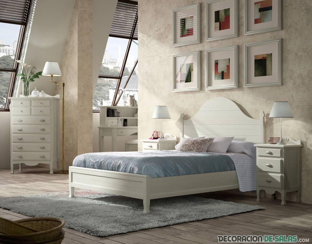 dormitorio sencillo con madera en blanco