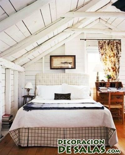 dormitorio sencillo en buhardilla