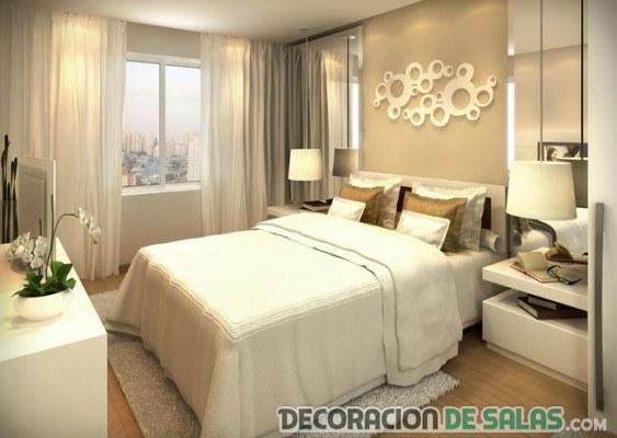 dormitorio sencillo en color tierra