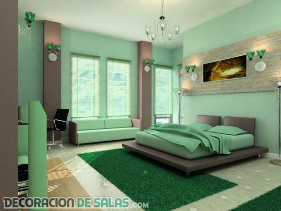 Dormitorios en color verde