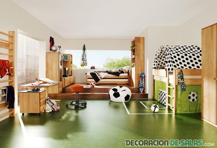 dormitorio y sala de juegos