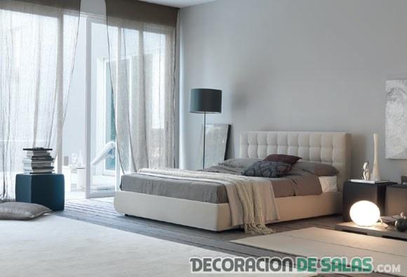Ideas para pintar las paredes de manera profesional - Dormitorio pared gris ...