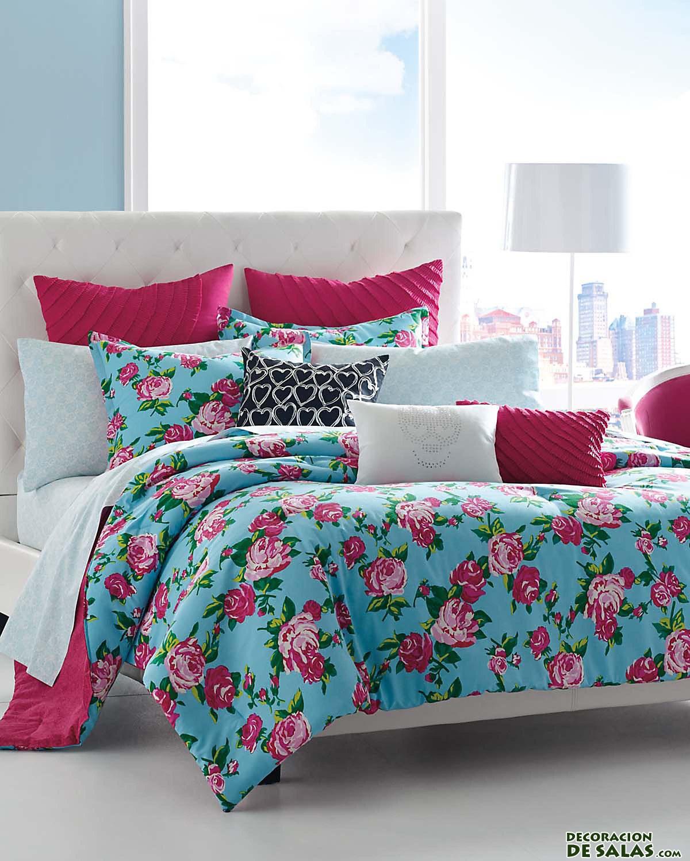 Ideas de dormitorios betsey johnson - Cojines para cama matrimonio ...