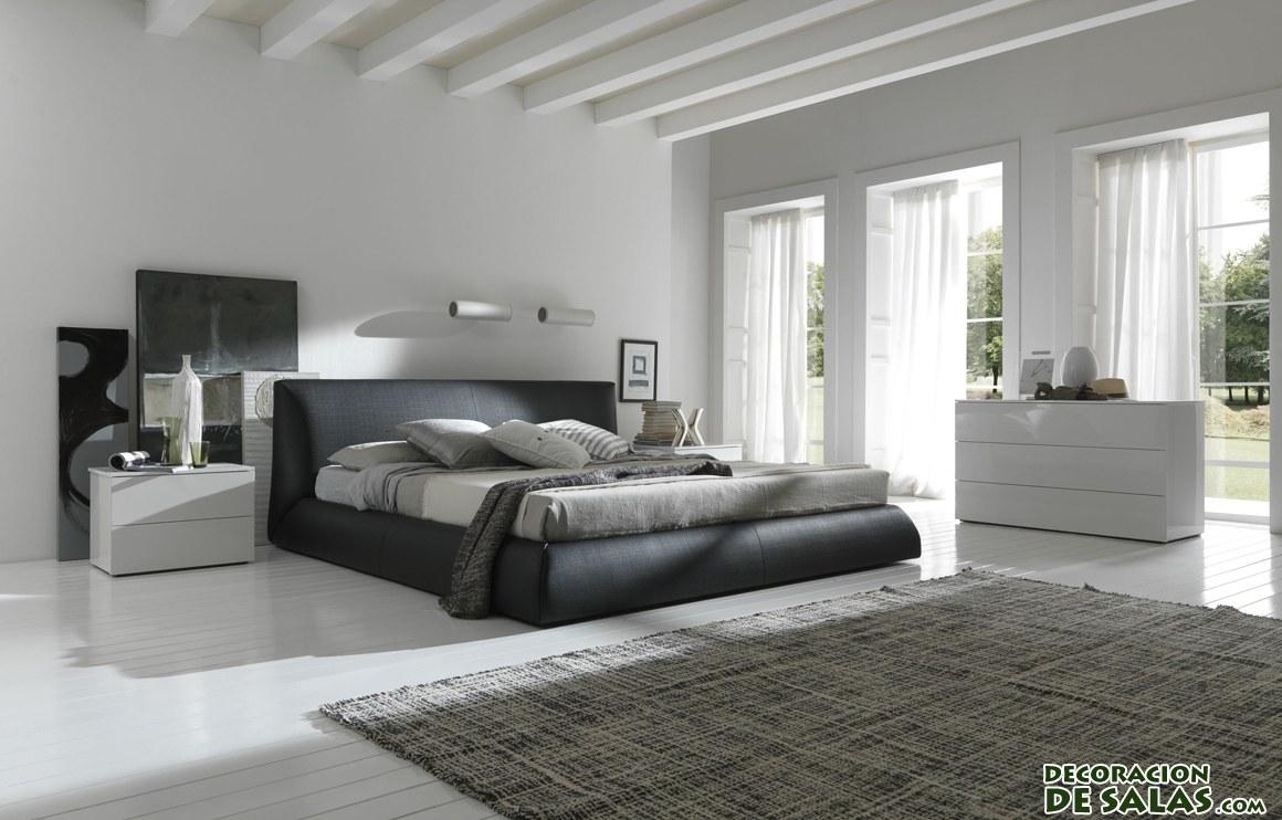 dormitorios en colores oscuros