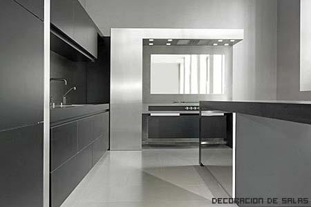 Tipos de encimeras para la cocina for Encimera acero