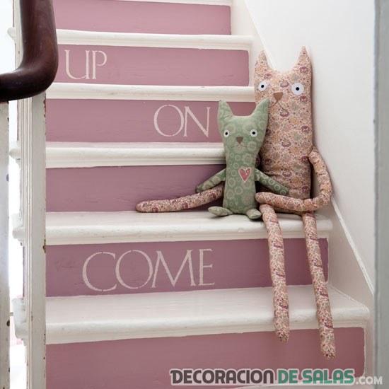 Escaleras con letras