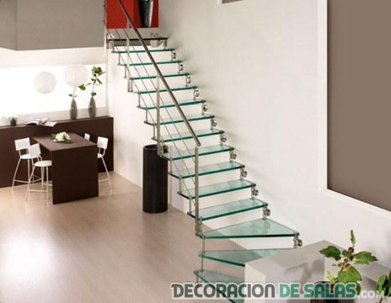 Escaleras de cristal para la decoraci n de interiores - Salones con escaleras ...