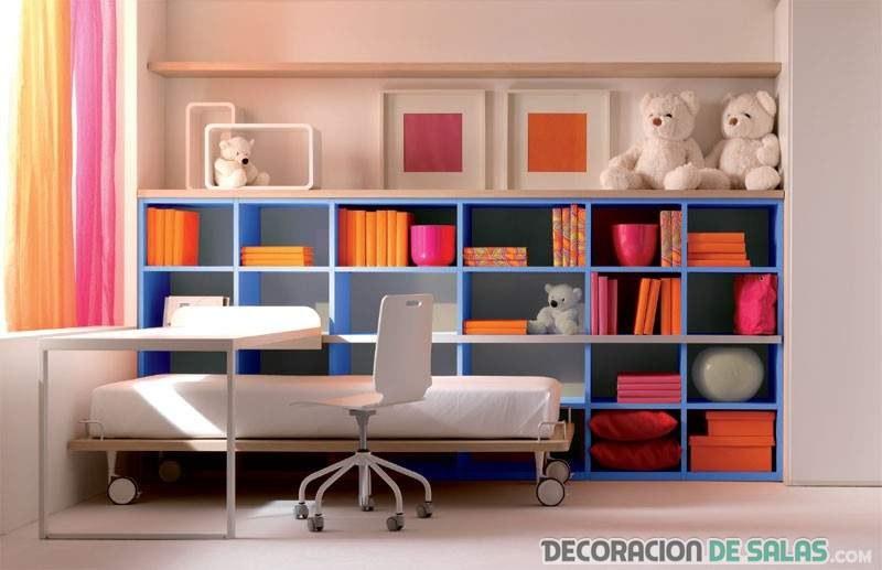 Estanter as infantiles en los dormitorios m s modernos - Estanterias de colores ...