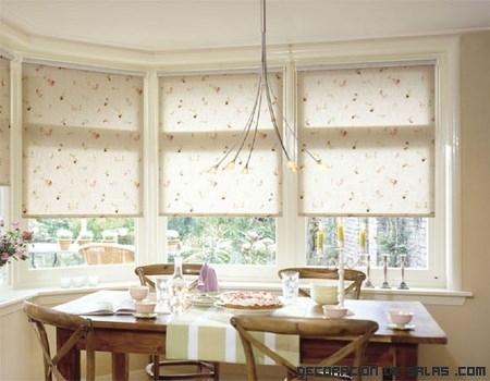 Estores para las ventanas de la cocina