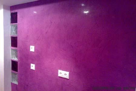 La t cnica del estucado for Marmol color morado