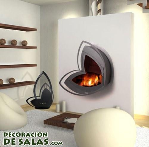Salones con estufas de leña