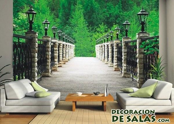 Fotomurales para decorar tu casa - Vinilos decorativos para muebles de salon ...