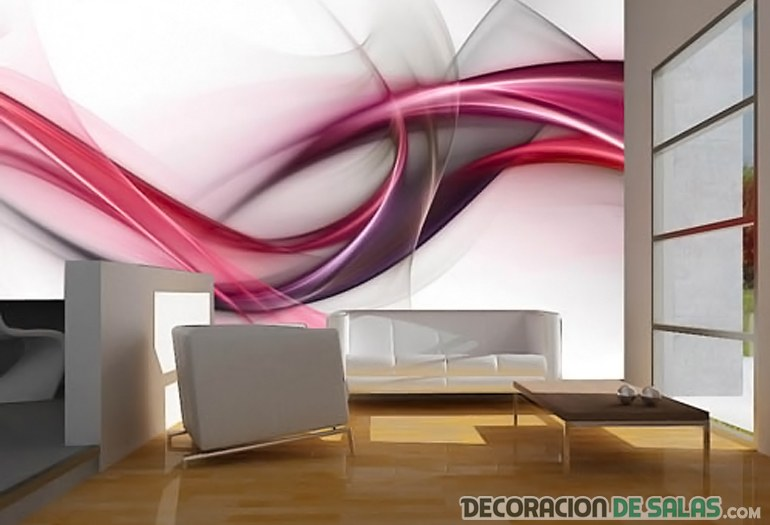 Ideas para decorar paredes con fotomurales - Ideas para decorar una pared de salon ...