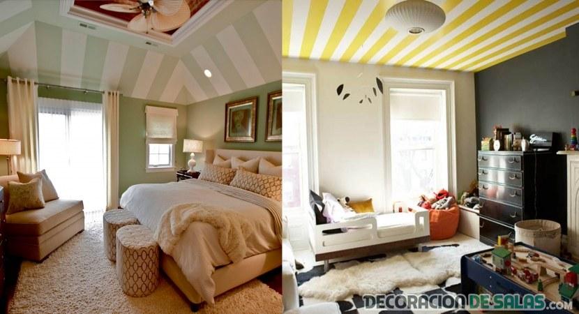 fotos techos de papel pintado