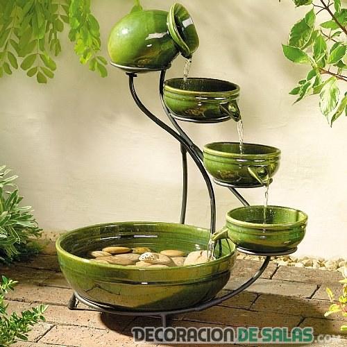 Fuentes decorativas para interiores for Fuentes de pared interior