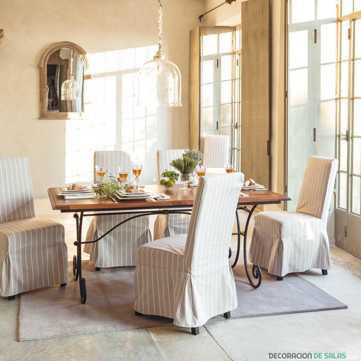 sillas de comedor con fundas