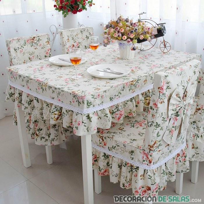 Sillas de comedor con fundas for Hacer cojines para sillas