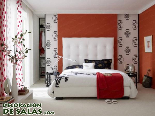 Dormitorios en blanco negro y rojo for Cuarto negro con gris