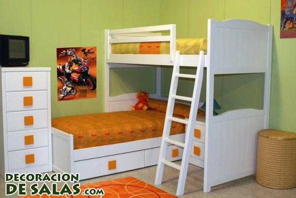 Ideas para las habitaciones compartidas - Habitaciones juveniles literas ...