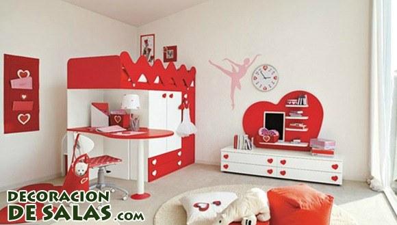 Habitaciones decoradas con corazones for Red themed bedroom decorating ideas