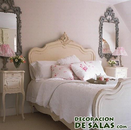 habitación con elegante shabby chic