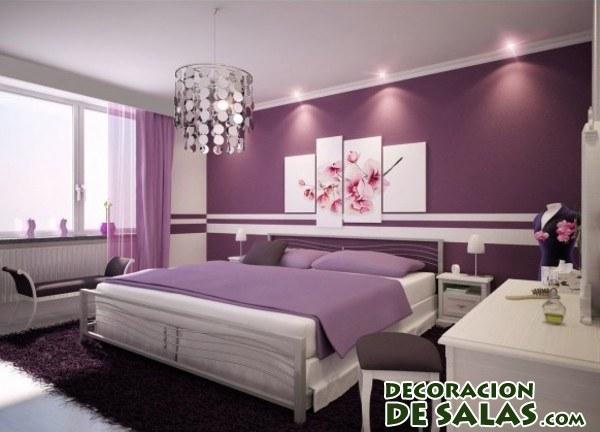 Dormitorios en malva - Color paredes habitacion ...