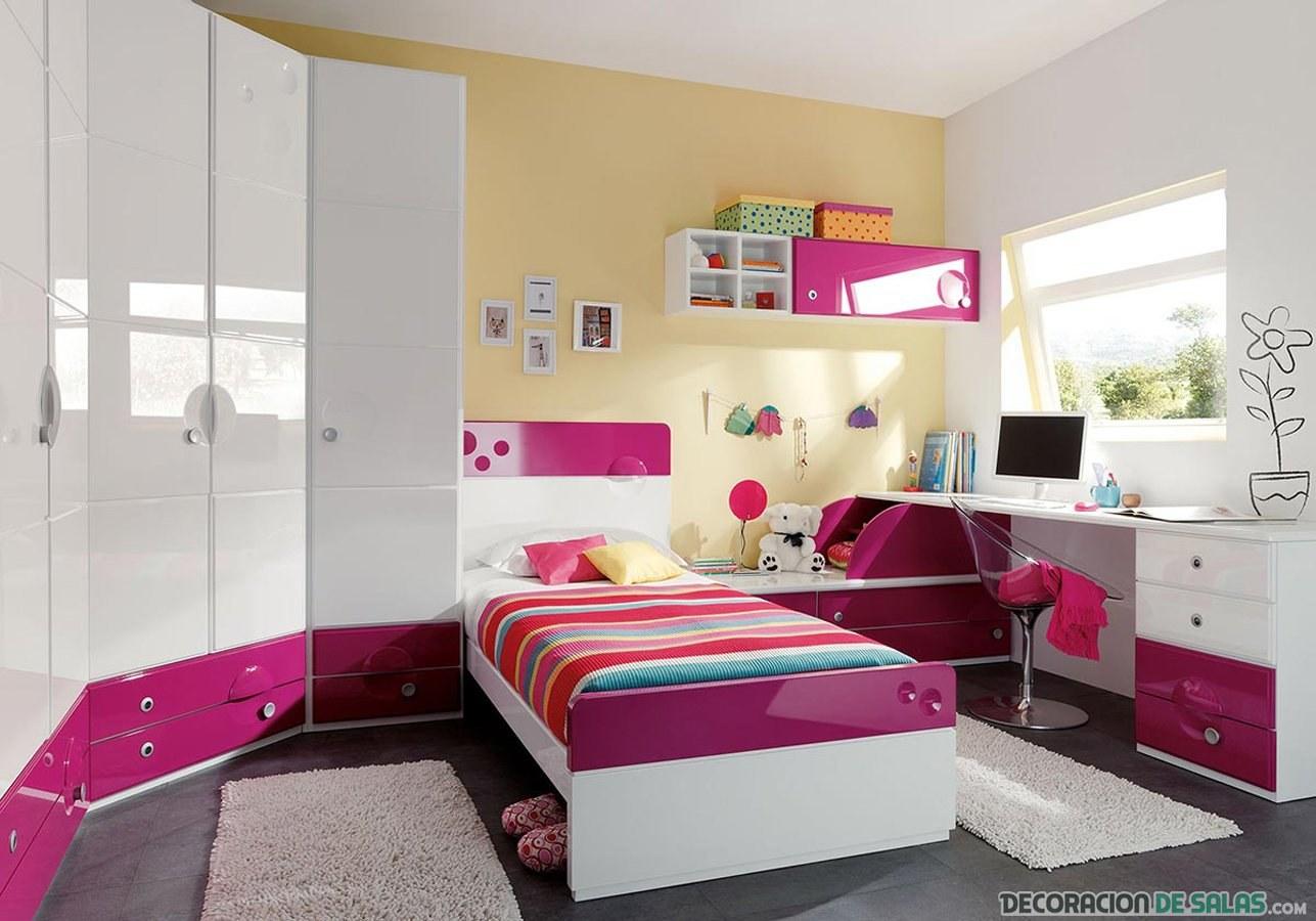 habitación femenina en blanco