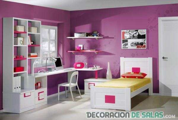 6 ideas de dormitorios femeninos juveniles - Decorar habitacion juvenil femenina ...