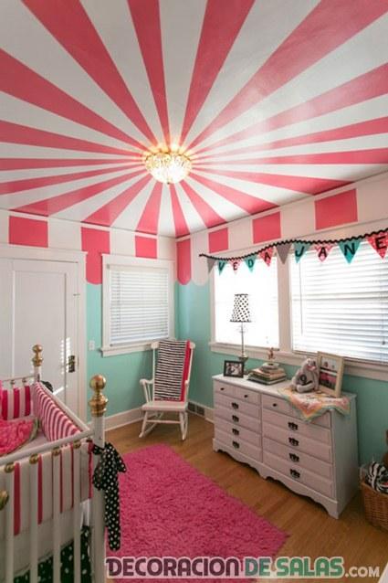 habitacion infantil techo decorado