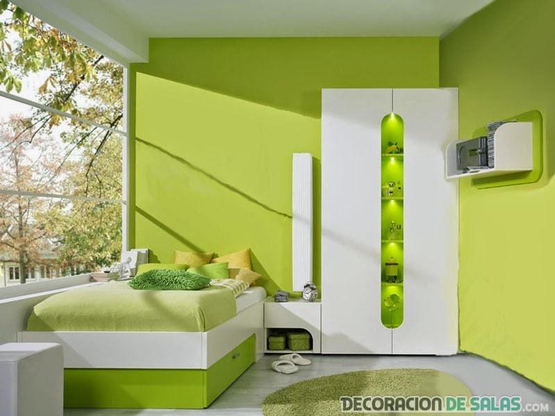 habitacion jóvenes verde claro