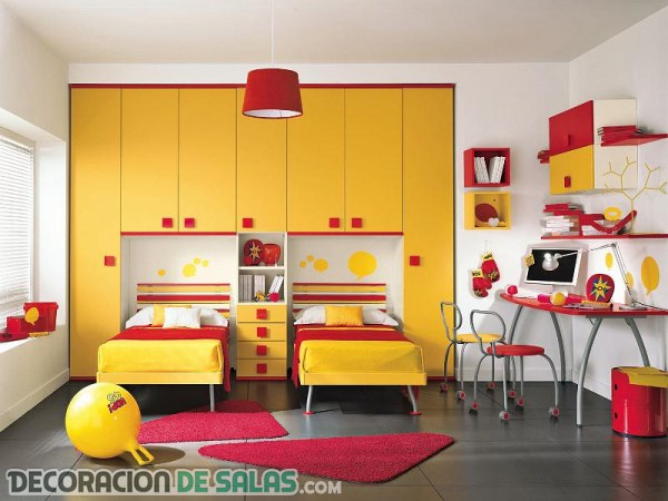 Ideas de habitaciones dobles para compartir for Habitaciones juveniles dobles