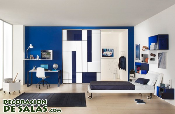 3 habitaciones juveniles para chicos - Habitacion juvenil azul ...