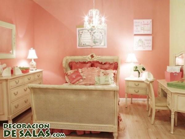 Dormitorios en color coral