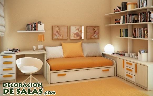 Habitaciones peque as pero a todo color for Colores para habitaciones pequenas