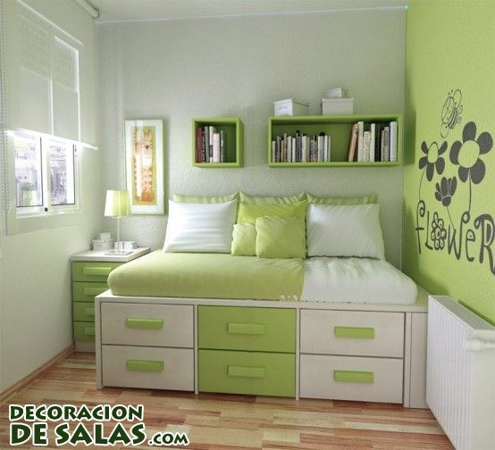 Tres ideas para habitaciones juveniles peque as - Decorar habitaciones infantiles pequenas ...