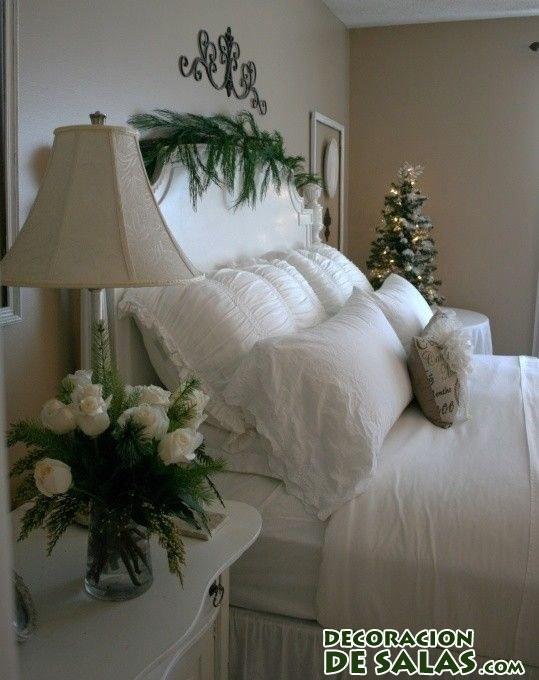 Dormitorio decorado en navidad - Decoracion de habitaciones en navidad ...