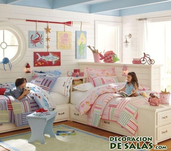habitación para niña y niño