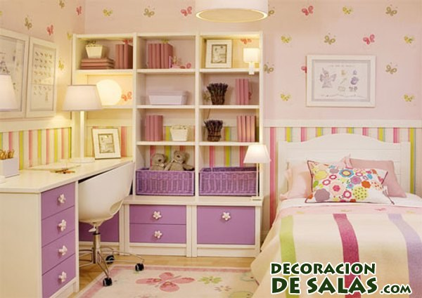 Habitaciones peque as pero a todo color for Decoracion habitacion infantil pequena