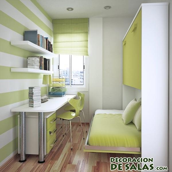 Habitaciones peque as pero a todo color - Tres camas en habitacion pequena ...