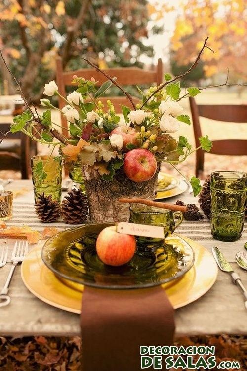 ideas para decorar las mesas en otoño