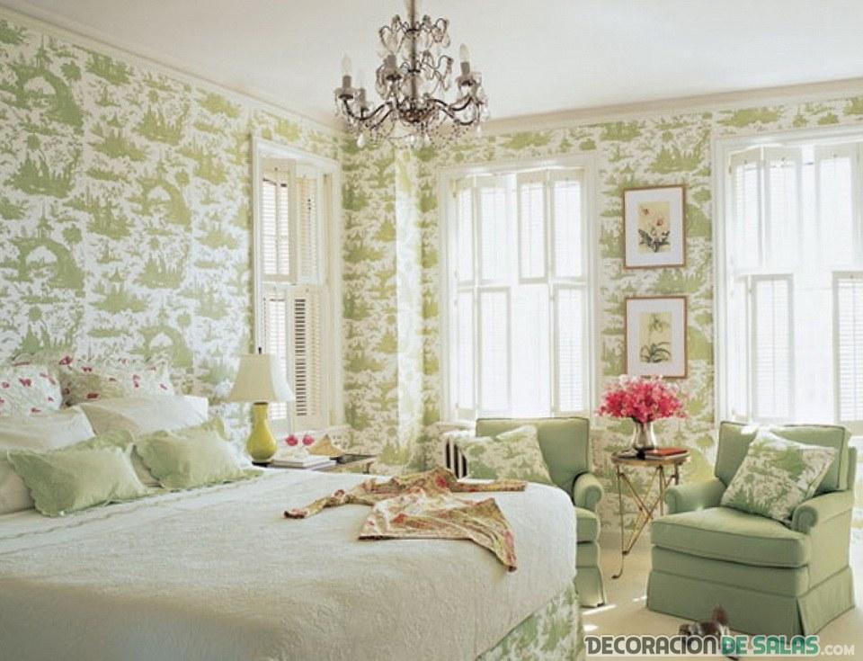 iluminación de dormitorio romántico