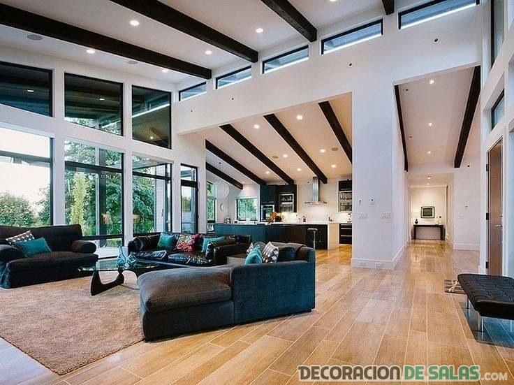 interior amplio para decorar