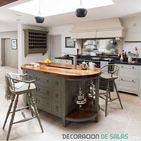 isleta combinada en cocina original